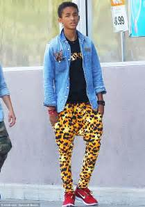 Jaden Smith steps out in a pair of leopard harem trousers