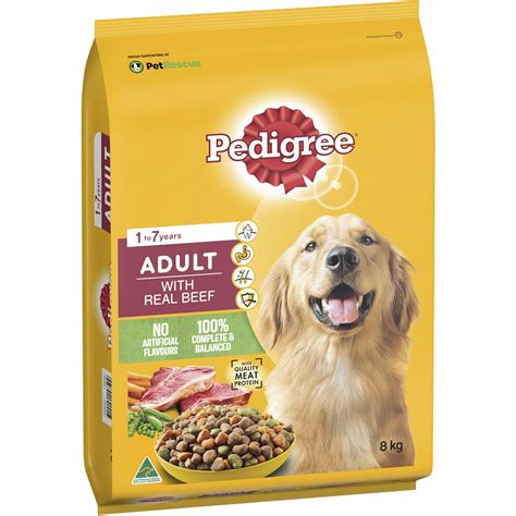 Pedigree Adult With Real Beef Dry Dog Food 8kg | Woolworths