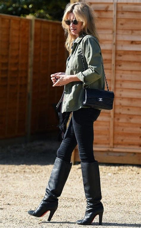 Tucking Jeans Into Boots: It's a Thing Again   Kate moss