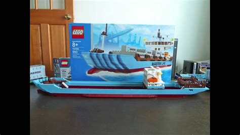 LEGO 10155 Maersk Container Ship - YouTube