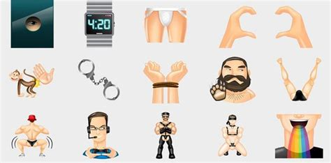 These are Grindr's new custom emojis - they're called